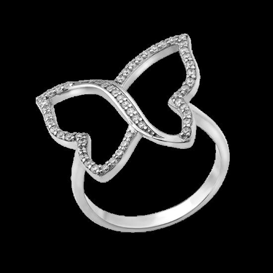 Серебряное кольцо Большая Бабочка ЛК-0140