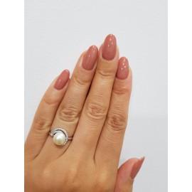 Серебряное кольцо с жемчугом Тропики