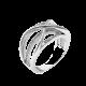 Серебряное кольцо Ажурная коса с маленькими фианитами ЛК-0148р