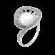 Серебряное кольцо с жемчугом Экзотический Цветок ЛК-0159