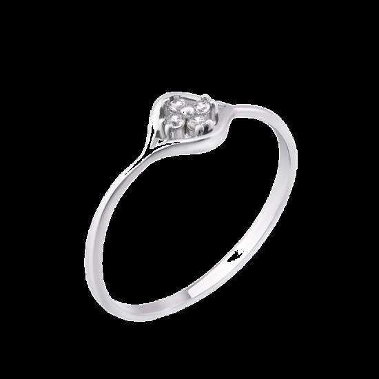 Серебряное кольцо мини Бутон ЛК-0173