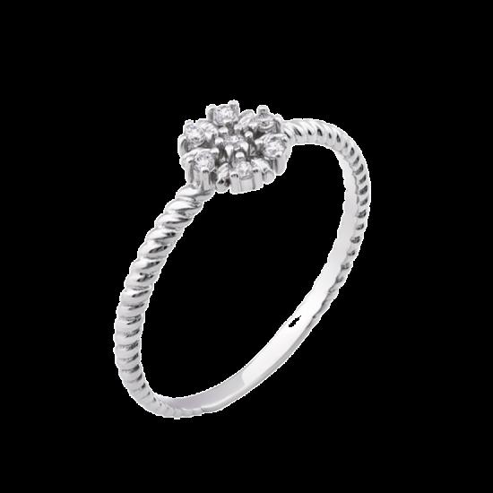 Серебряное кольцо мини Фиалка ЛК-0177