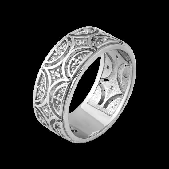 Серебряное кольцо Восточный Узор ЛК-0186р