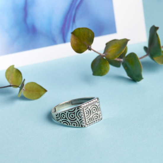 Серебряное кольцо Сферы ЛК-0189ч