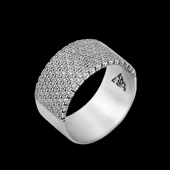 Кольцо серебряное широкое Эпатаж ЛК-0200