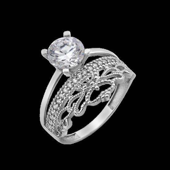 Серебряное кольцо двойное Индира ЛК-0201