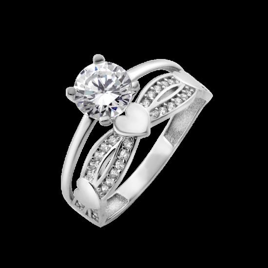 Кольцо серебряное двойное Жаклин ЛК-0205