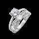 Серебряное кольцо двойное Жаклин ЛК-0205