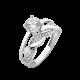 Серебряное кольцо двойное Бесконечность ЛК-0206