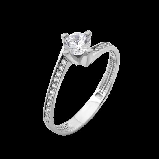 Серебряное кольцо с одним камнем Монна Лиза ЛК-0208