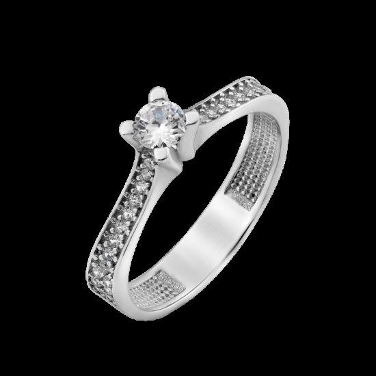 Серебряное кольцо с одним камнем Весна ЛК-0210