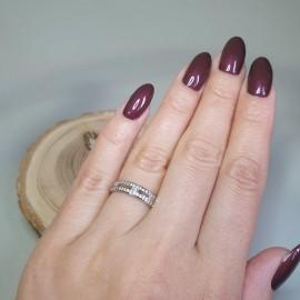 Серебряное кольцо тонкое Новелла