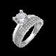 Серебряное кольцо двойное Эмма ЛК-0220