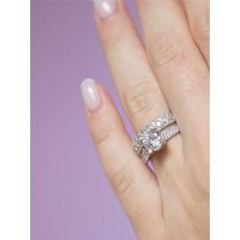 Серебряное кольцо двойное Рэя