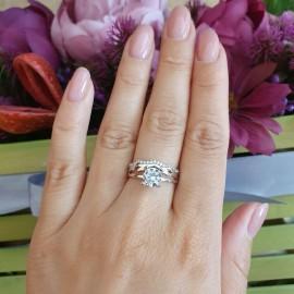 Серебряное кольцо двойное Ирина