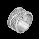 Серебряное кольцо широкое Жар-Птица ЛК-0225