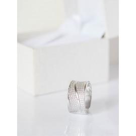 Серебряное кольцо широкое Жар-Птица
