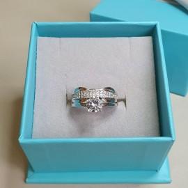 Серебряное кольцо двойное Вирджиния