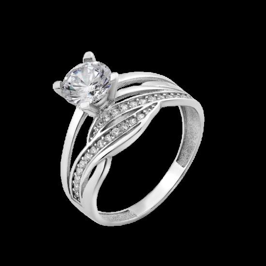 Серебряное кольцо двойное Лоза ЛК-0228