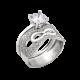 Серебряное кольцо Маска 2 в 1 ЛК-0230