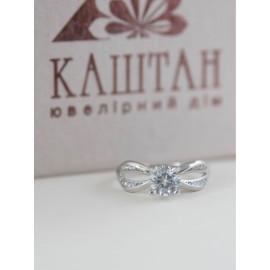 Серебряное кольцо с одним камнем Атланта