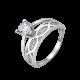 Серебряное кольцо двойное Магнолия ЛК-0241