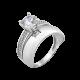 Серебряное кольцо двойное Элит ЛК-0246
