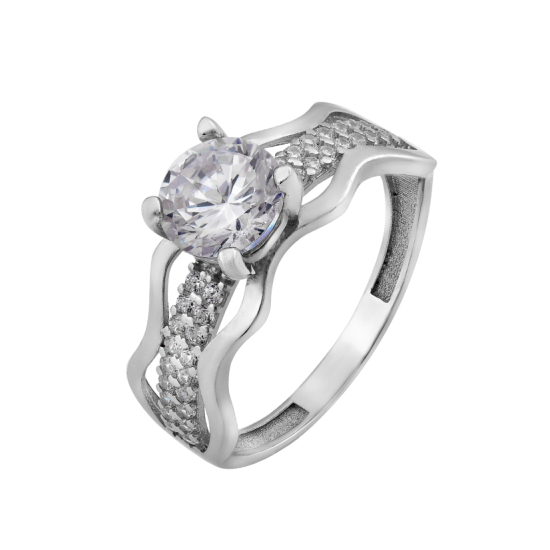 Серебряное кольцо с одним камнем Мистерия ЛК-0247
