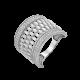 Серебряное кольцо широкое Кассандра ЛК-0257