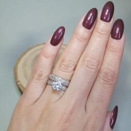 Серебряное кольцо двойное Злата