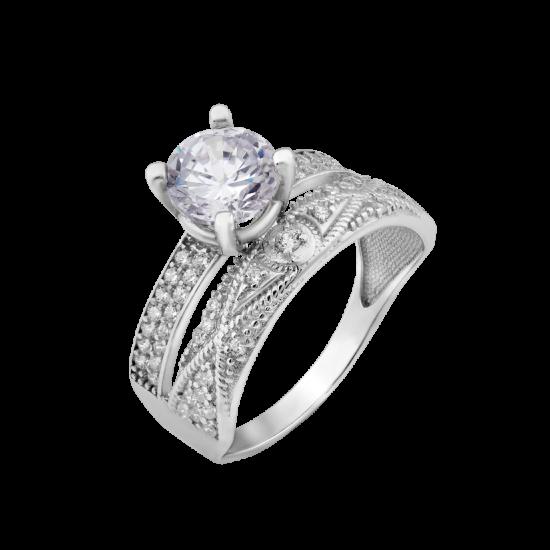 Серебряное кольцо двойное Злата ЛК-0258