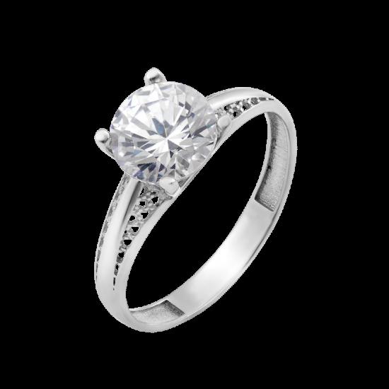 Серебряное кольцо с одним камнем Лира ЛК-0259
