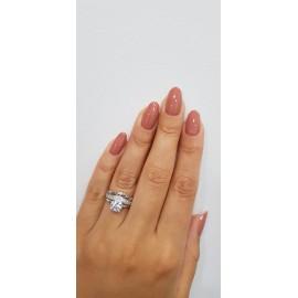 Серебряное кольцо двойное Диадема