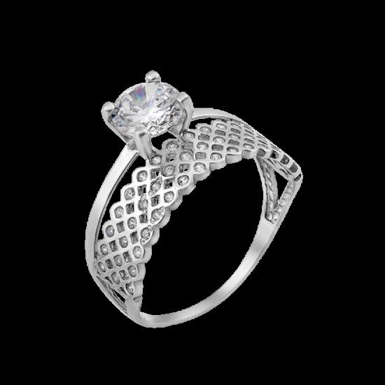 Серебряное кольцо двойное Нежный Блеск ЛК-0292