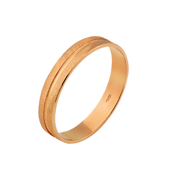 Обручальное кольцо золотое М-10060