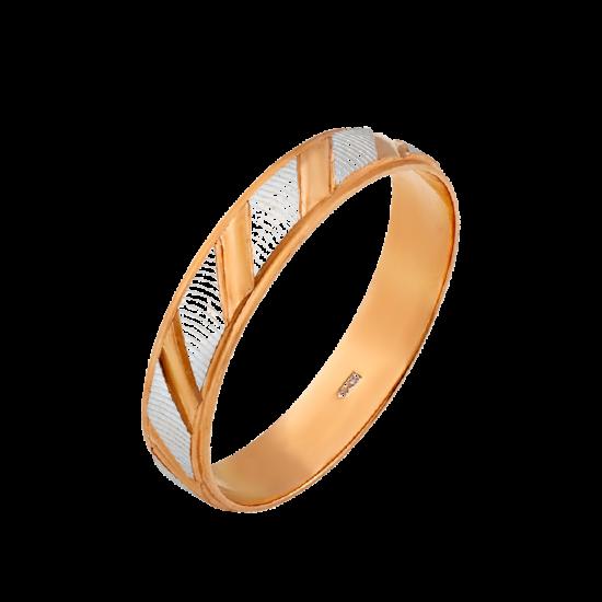Обручальное кольцо золотое М-10655