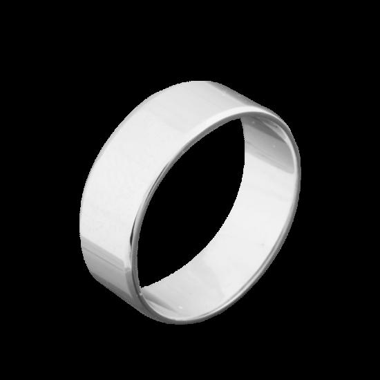 Обручальное кольцо серебряное классическое широкое ОС-2717