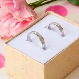 Обручальное кольцо серебреное тоненькое Волна