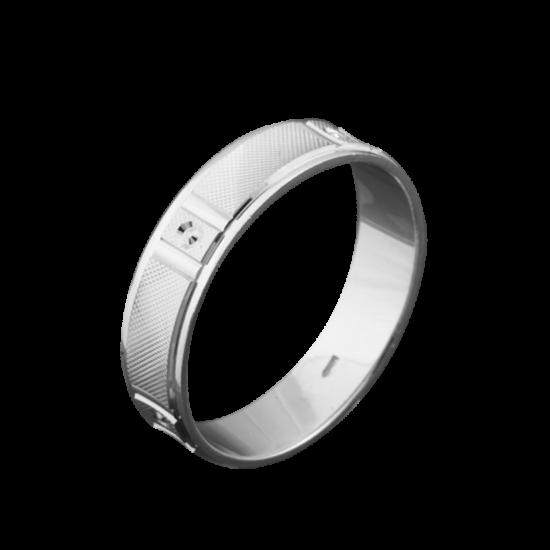 Кольцо обручальное серебряное ОС-5002