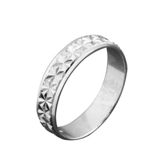 Обручальное кольцо серебряное ОС-5012