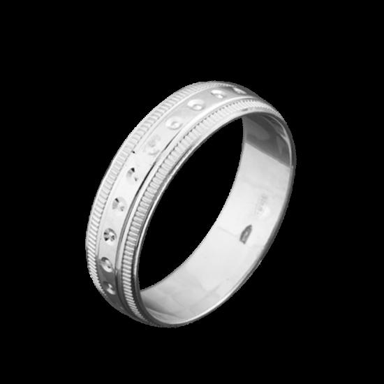Обручальное кольцо серебряное ОС-5510