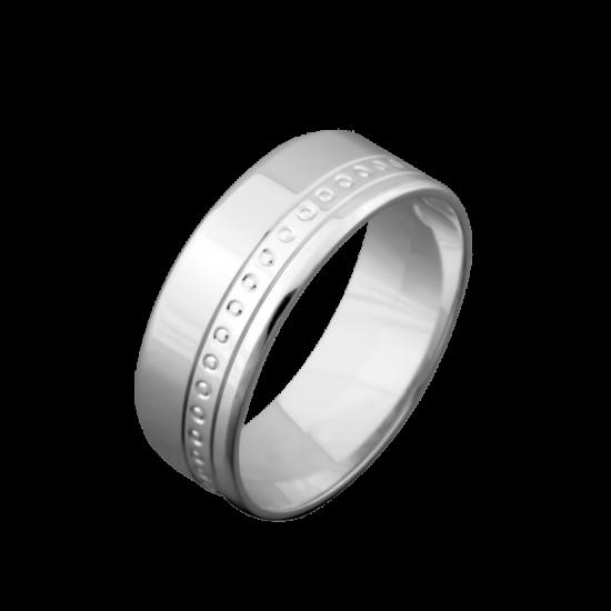 Обручальное кольцо серебреное  ОС-5601