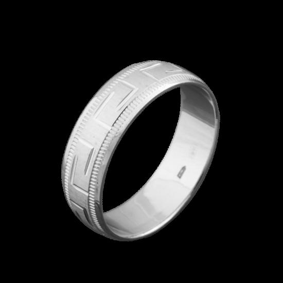 Обручальное кольцо серебряное ОС-6006