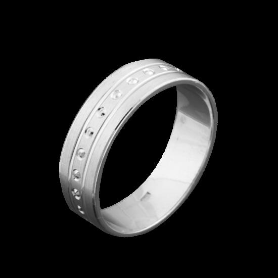 Обручальное кольцо серебряное ОС-6015