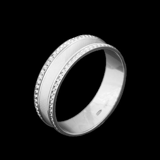 Обручальное кольцо серебряное ОС-6016
