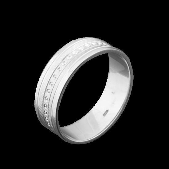 Обручальное кольцо серебряное ОС-6501