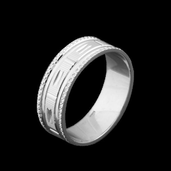 Обручальное кольцо серебряное ОС-6507