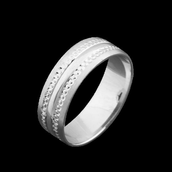 Обручальное кольцо серебряное ОС-6517