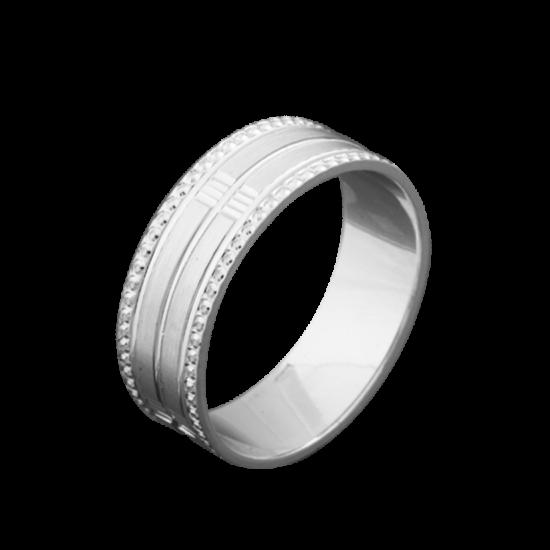 Обручальное кольцо серебряное ОС-6521
