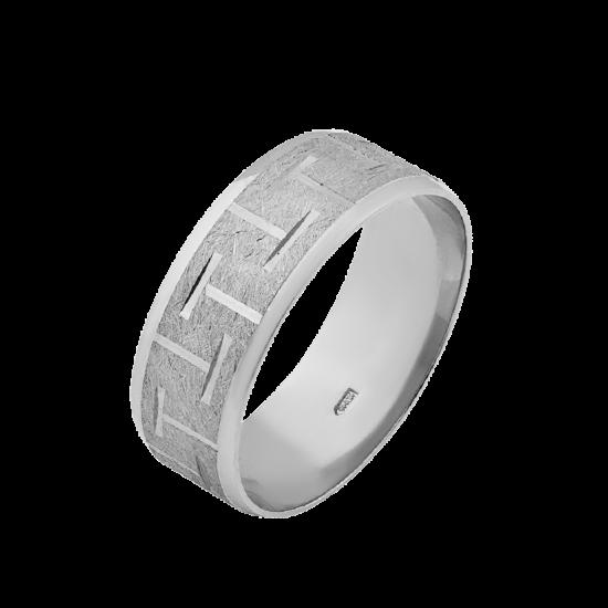 Обручальное кольцо серебряное ОС-7002